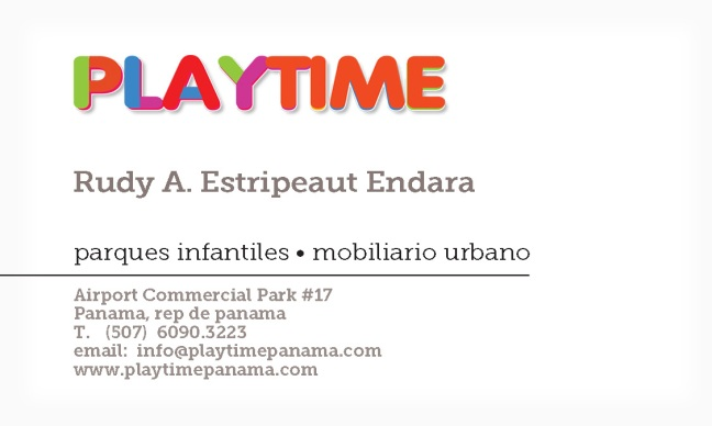 Playtime Bus Card Front RUDY