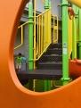 Compact - modelo de parque infantil de metal y plástico durable en Paseo el Valle, Anton Valley playground