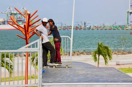 Parques Infantiles Panama - skatepark paseo marino colon - 9